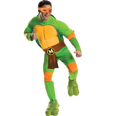 Teenage Mutant Ninja Turtles Michelangelo Deluxe Adult Costume