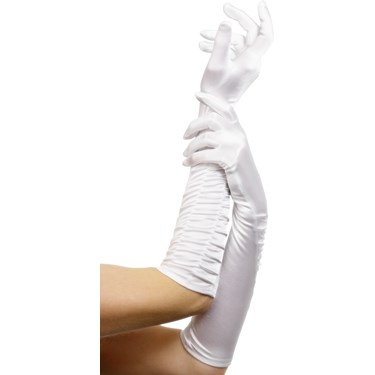 Temptress Long White Gloves For Women