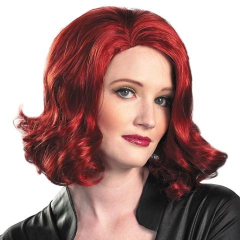 The Avengers Black Widow Wig (Adult)