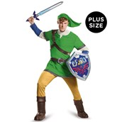The Legend of Zelda: Plus Size Deluxe Link Costume For Adults