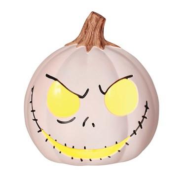 "The Nightmare Before Christmas Jack Skellington 6"" White Light-Up Pumpkin"