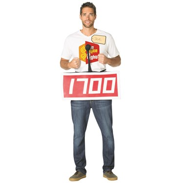 The Price is Right Contestant Row Red Adult Costume