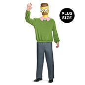 The Simpsons: Deluxe Ned Flanders Plus Costume For Adults