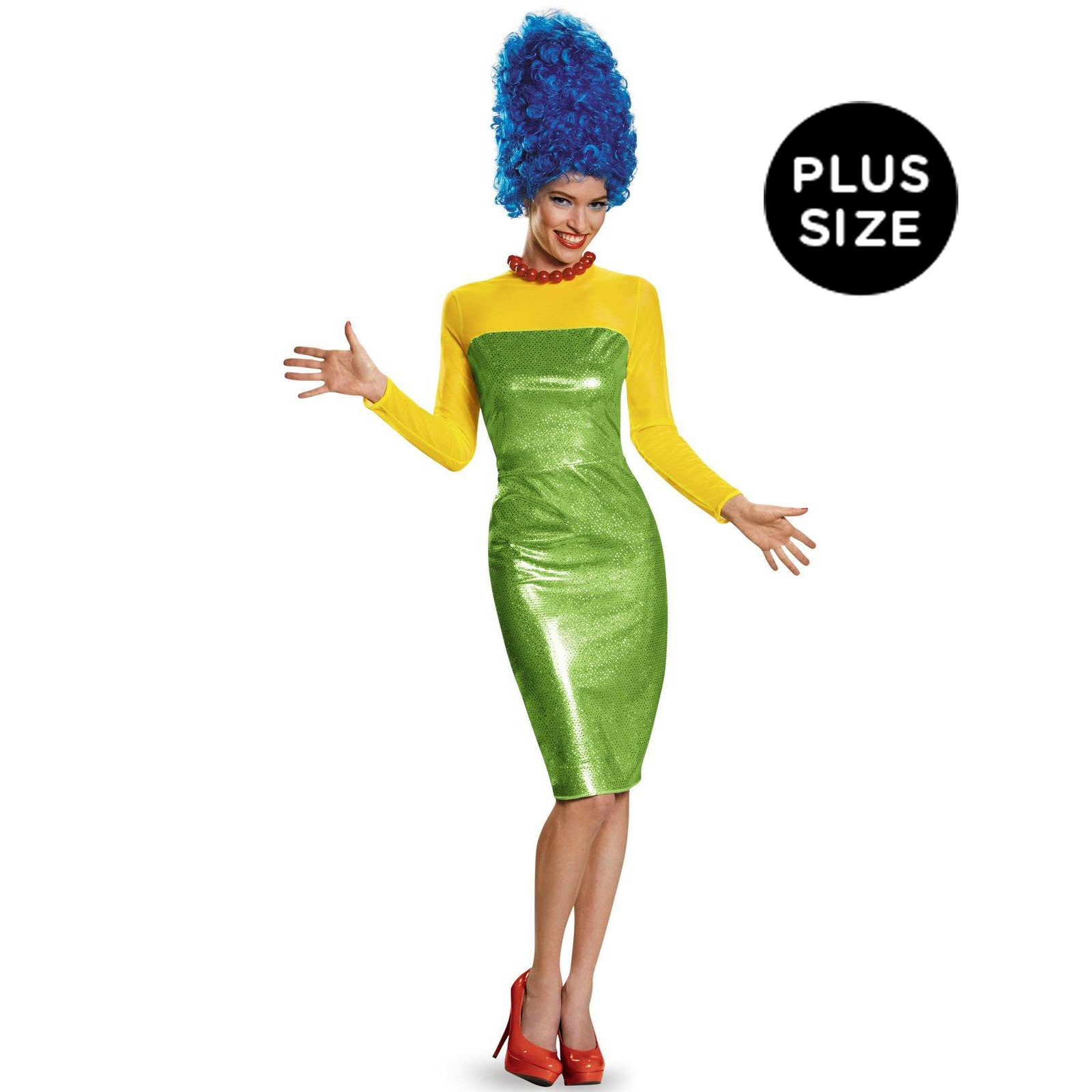 The Simpsons: Deluxe Plus Size Marge Costume For Women ...