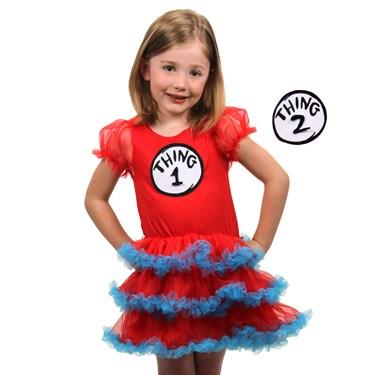 Thing 1 and 2 Child Tutu Dress