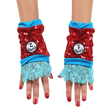 Thing 1 and 2 Sequin Child Glovettes