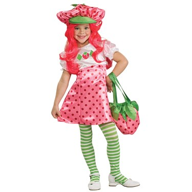 Toddler Girls Strawberry Shortcake Costume with Wig