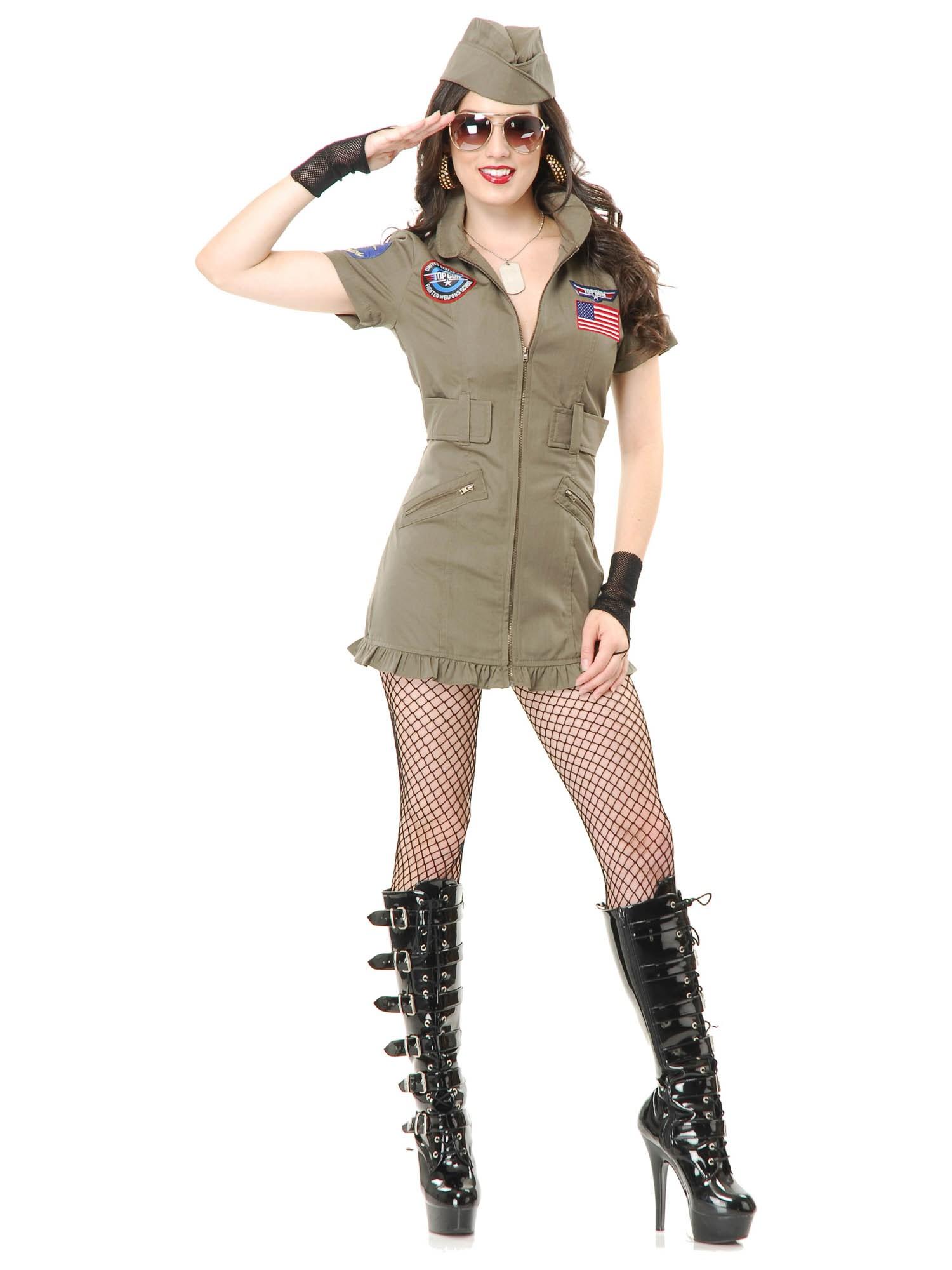 Top Gun Flight Costume Dress For Women