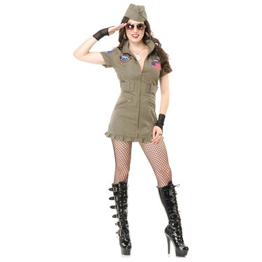 Top Gun Flight Costume Dress For Women