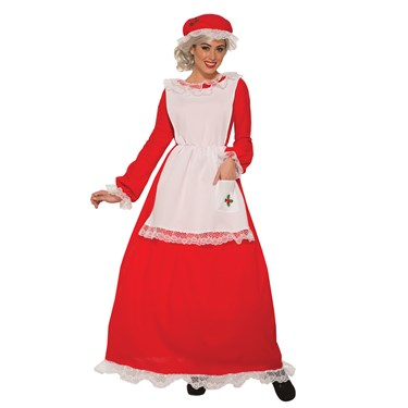 Traditional Mrs Claus Adult Costume