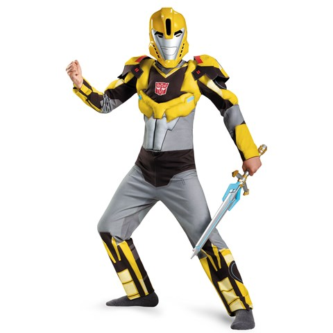 Transformers Robots in Disguise: Kids Bumblebee Animated Muscle Costume