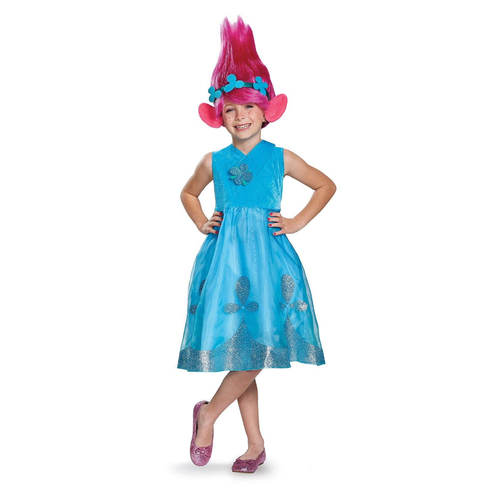 Trolls Poppy Deluxe Child Costume With Wig Buycostumes Com