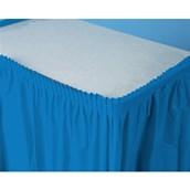 True Blue (Blue) Plastic Table Skirt