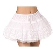 Tulle & Lace Petticoat - White