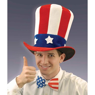 U.S. Flag Velvet Adult Top Hat