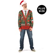 Ugly Cardigan with Tie Plus Size Shirt Adult Costume