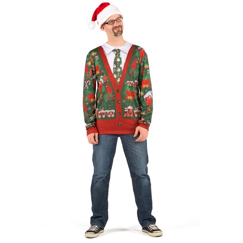 Ugly Cardigan with Tie Shirt Adult Costume