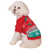 Ugly Christmas Sweater with Bow Pet Costume