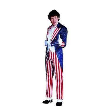 Uncle Sam Sequin Adult Costume