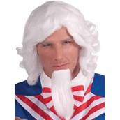 Uncle Sam Wig And Beard Set