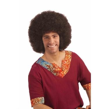 Unisex Brown Deluxe Jumbo Afro Adult Wig