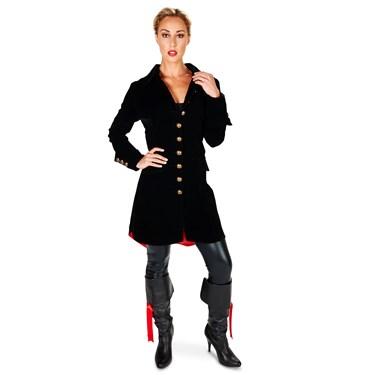 Velvet Black Pirate Jacket Adult Female Costume