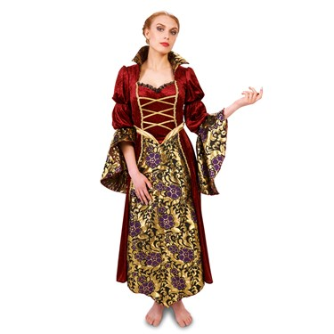Velvet Brocade Renaissance Lady Adult Costume