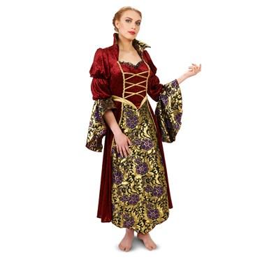 Velvet Brocade Renaissance Lady Adult Plus Costume