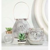 Verdant Glass Lanterns (Set of 2)