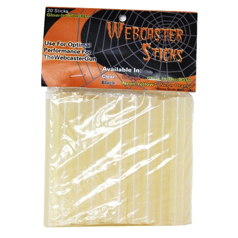 Webcaster Glue Sticks - Neon Yellow (20 count)