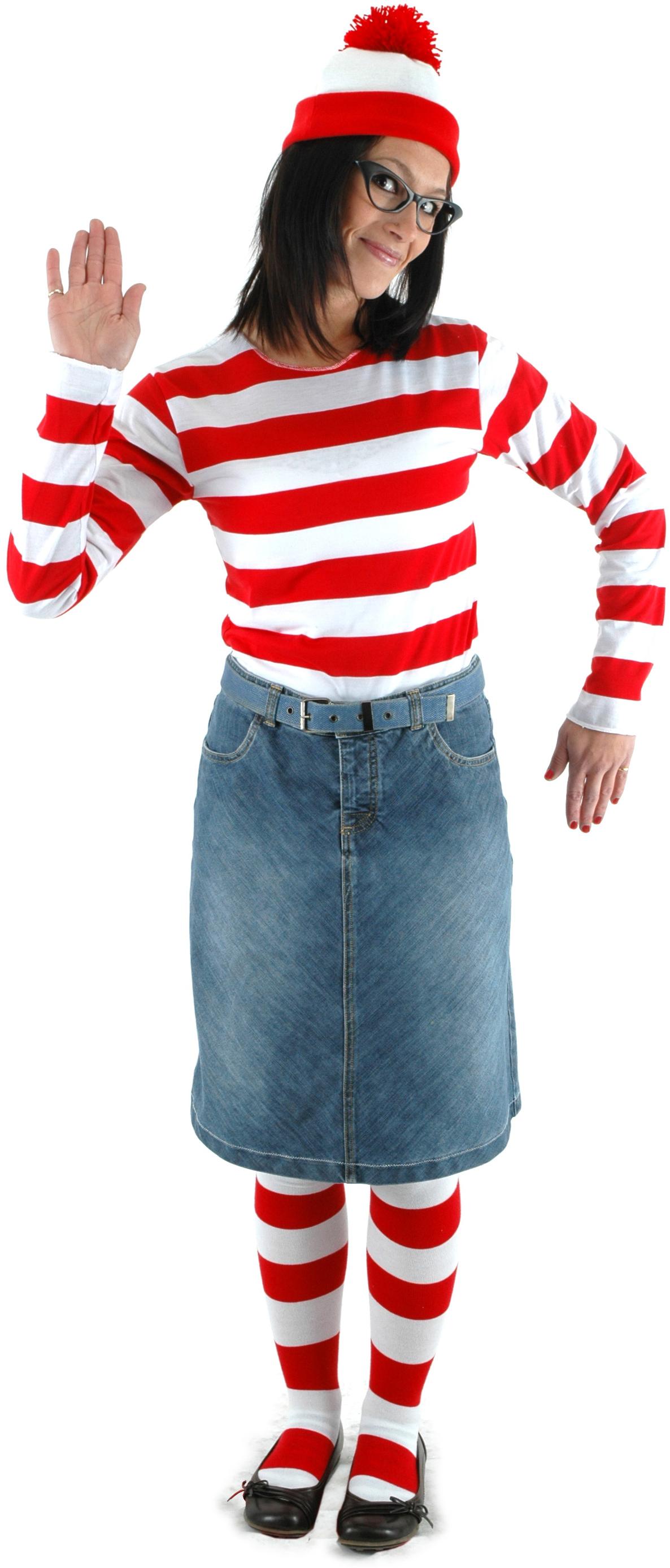 wheres waldo wenda adult costume kit largex large