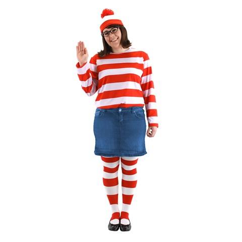 Where's Waldo -  Wenda Adult Plus Costume