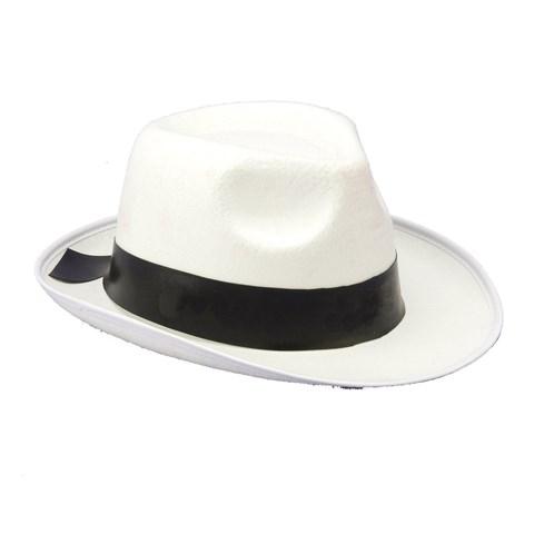 White Gangster Hat
