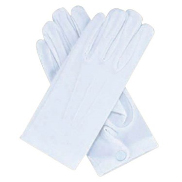 White Gloves W/snaps