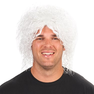 White Mad Scientist Adult Wig