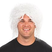 White Mad Scientist Adult Wig
