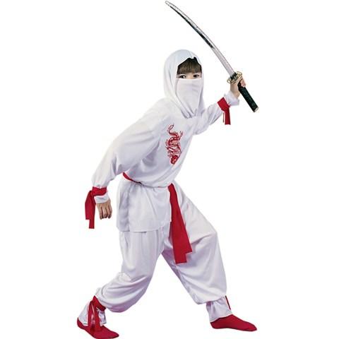White Ninja Deluxe Child Costume