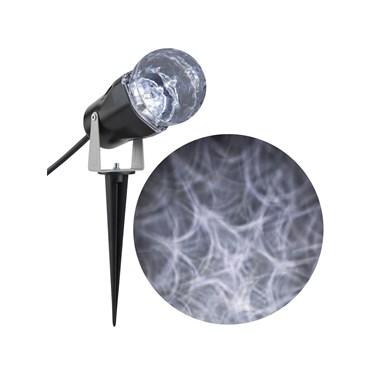 White Spiderweb Lightshow Projection