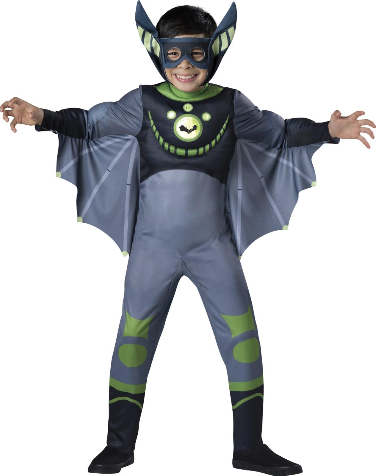 Wild Kratts Quality Bat Green Costume For Kids