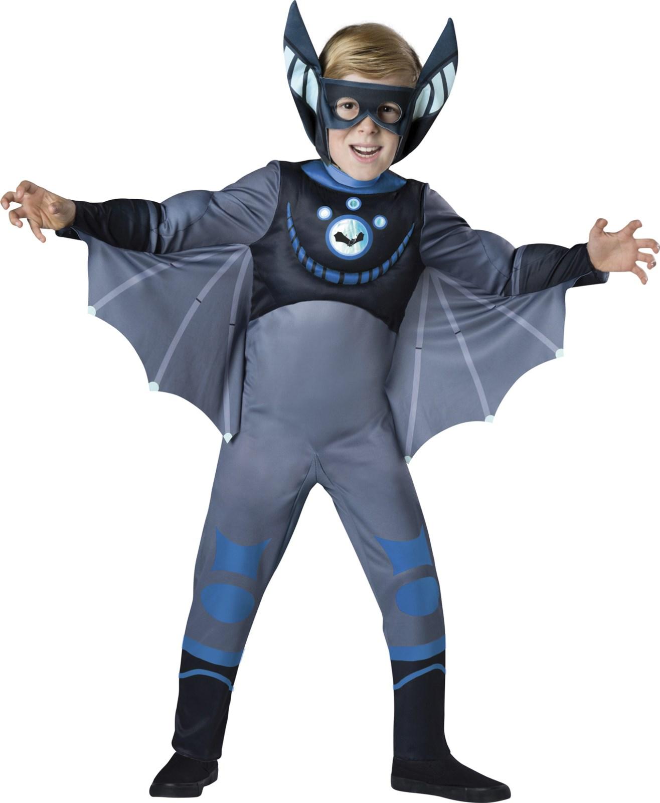 Wild Kratts Quality Blue Bat Costume For Boys