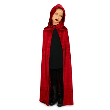 Wine Velvet Child Cape