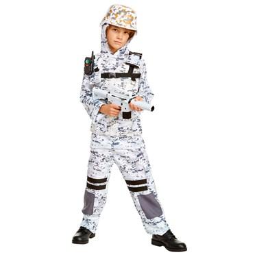 Winter Camo Stealth Soldier Child Costume