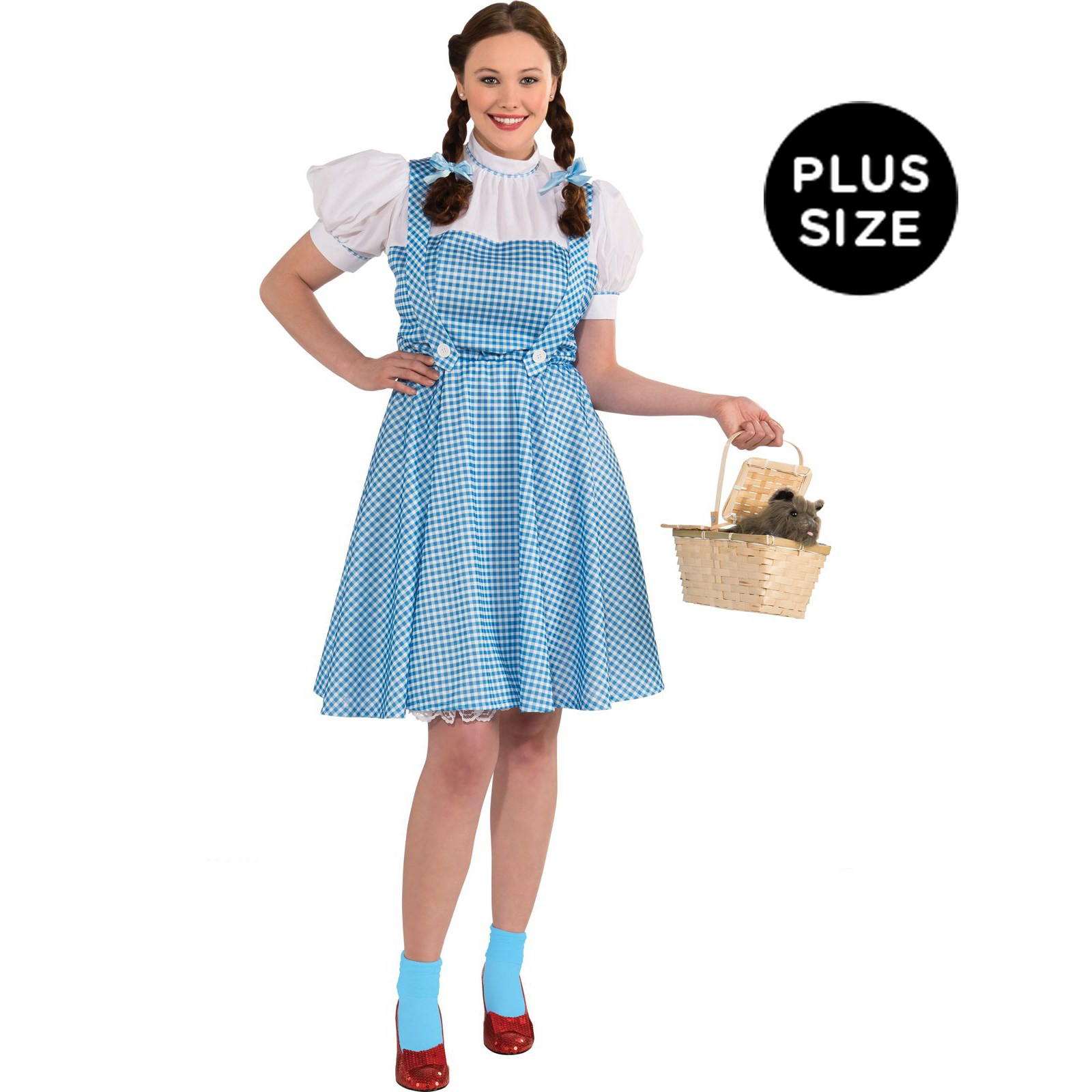 Wizard Of Oz Dorothy Adult Plus Costume | BuyCostumes.com