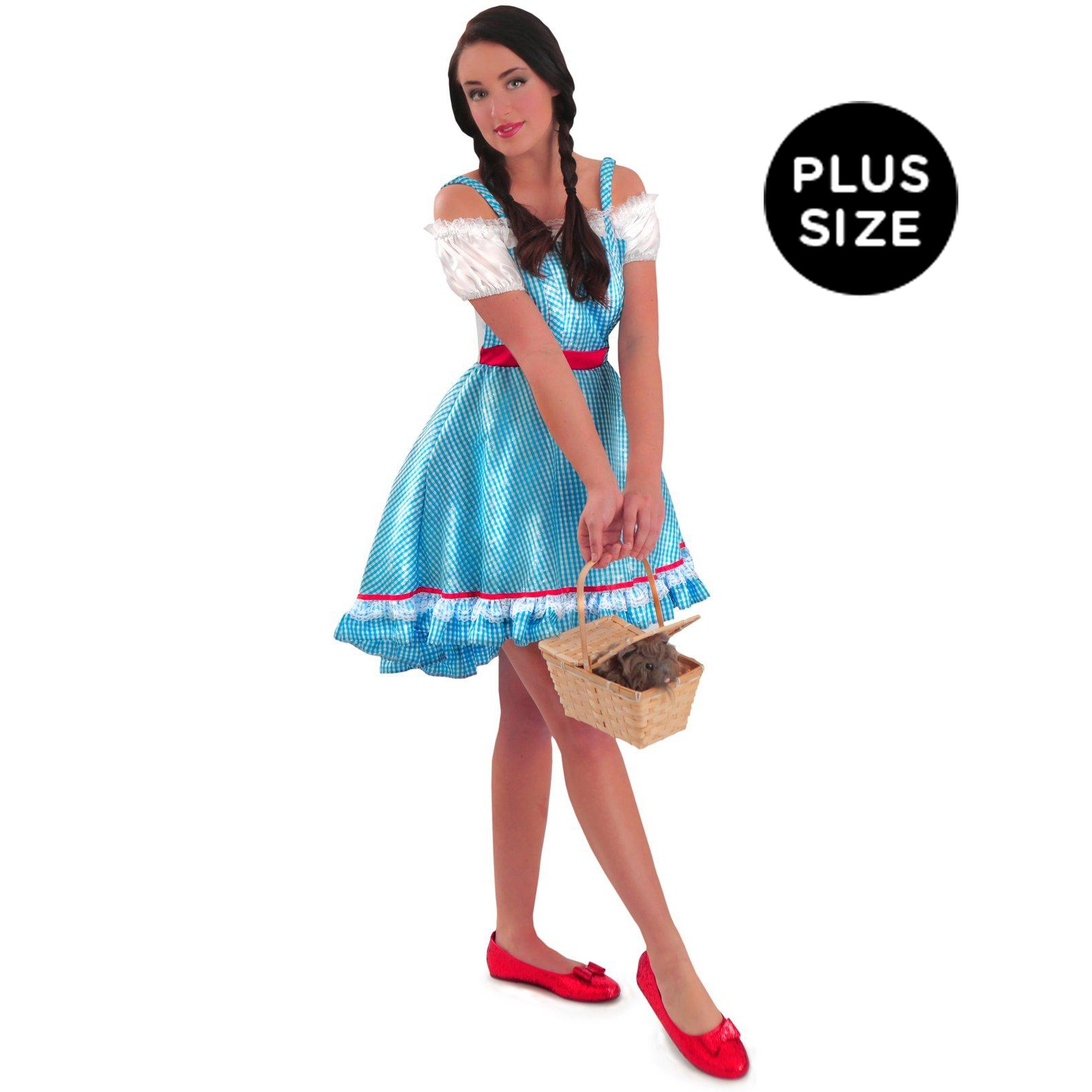 Wizard of Oz Dorothy Costume - Adult Plus
