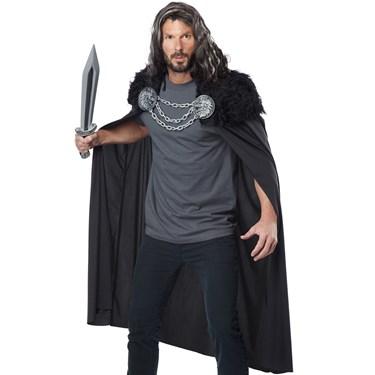 Wolf Clan Warrior Cape Men's Costume