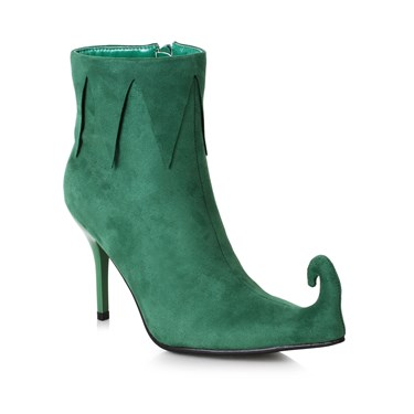 Women's 3 inch Heel Green Holiday Boot