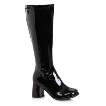 Women's 3 inch Wide Width Black GoGo Boot