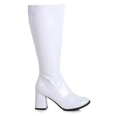 Women's 3 inch Wide Width White GoGo Boot