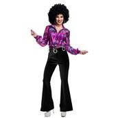 Womens 70's Black Disco Pants