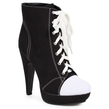 Women's Black Athletic Ankle Boots
